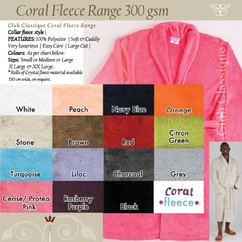 Coral-Fleece- Colours