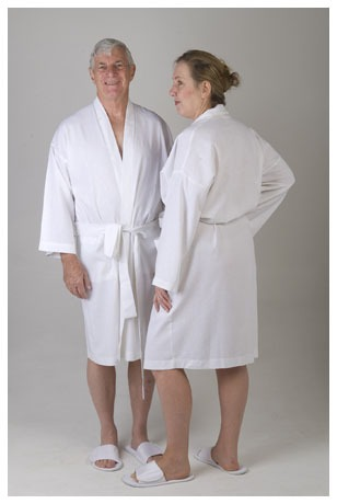 Linen Bathrobes White
